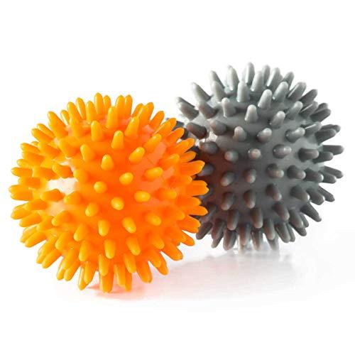 Vollo Sports Conjunto com 2 Bolas de Massagem, Cinza/Laranja