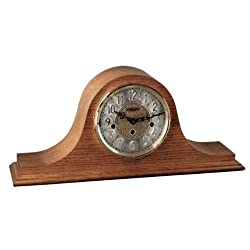 Hermle Mechanical Elegant Cherry or Classic Oak Tambour Clock 21134-N90340