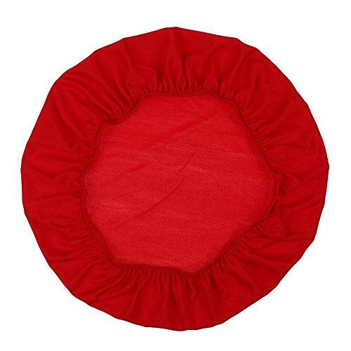 ShenYo - Funda para taburete de bar (redonda, con respaldo antideslizante y banda elástica), Rojo, Tamaño libre