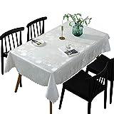 NOBCE manteles Individuales plastico Restaurante Restaurante de Hotel Blanco Impermeable y a Prueba de Aceite A 135x250
