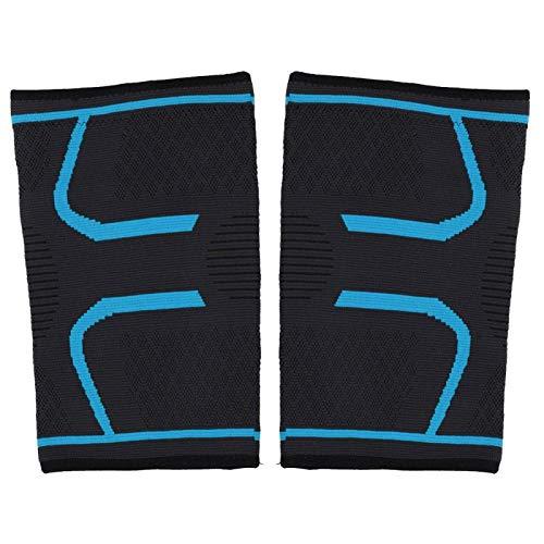 Rodilleras elásticas de doble banda,(Sky blue, M)