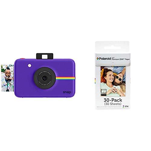 Polaroid Fotocamera Digitale a Scatto Istantaneo con Tecnologia di Stampa a Zero Inchiostro Zink, Viola & Premium ZINK Carta Fotografica 2 x 3 Pollici, Compatibile con Polaroid Snap, Snap Touch Z2300