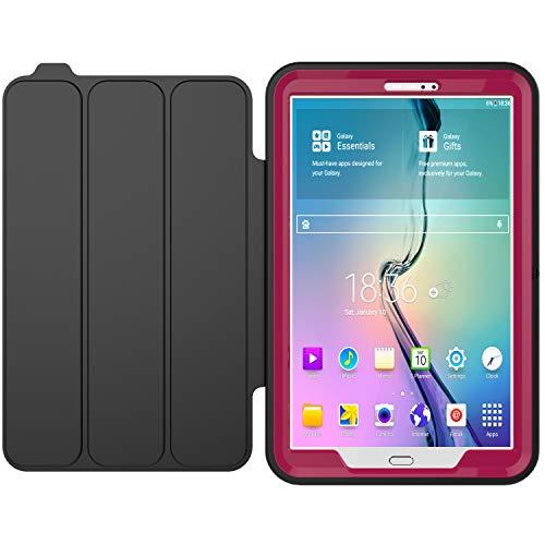 Aidashine Funda para Galaxy Tab A 10.1 SM-T580 T585 T587 2016 Liberado, Cubierta Delgada Elegante De Soporte En Folio del Caso para La Lengüeta Un 10.1 Pulgadas Tablet,Rosado