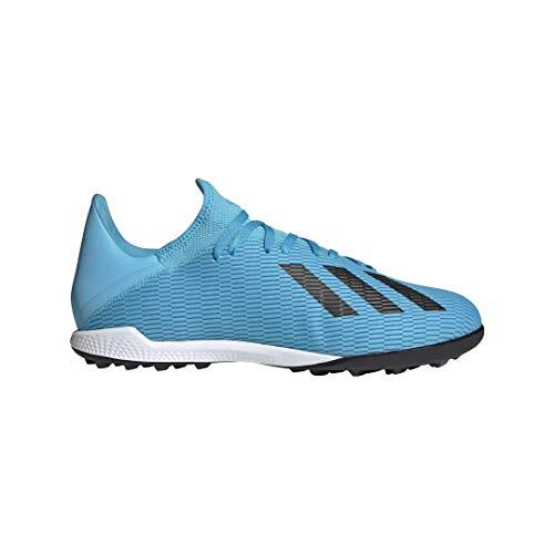adidas Men's X 19.3 Turf Soccer Shoe, Bright Cyan/Black/Shock Pink, 9.5 M US