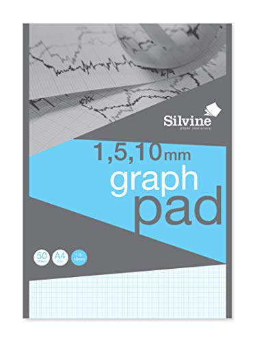 Sivine Graph Block, A4, 50 Blatt hochwertiges Papier 90 g/m² 1-5-10 mm A4