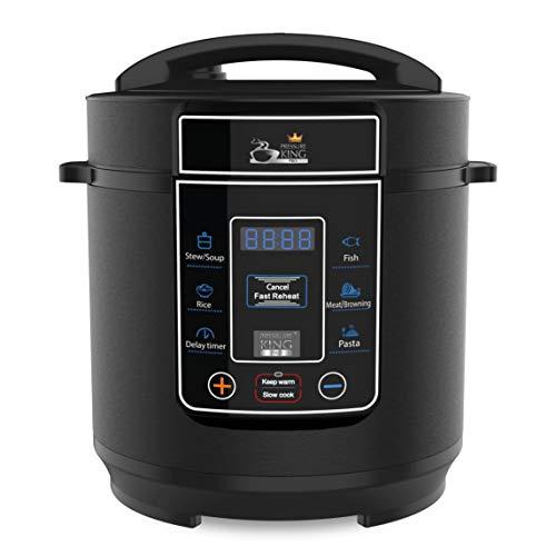 Drew & Cole Pressure King Pro Electric Pressure Cooker 8-in-1 Multi Cooker, Rice Cooker, Slow Cooker, Soup Maker, 700 W, 3 Litre, Black