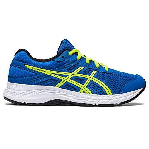 ASICS Contend 6 Running Shoe, Directoire Blue/Lime Zest, 36 EU