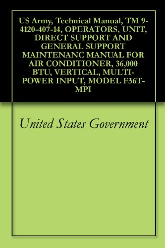 US Army, Technical Manual, TM 9-4120-407-14, OPERATORS, UNIT, DIRECT SUPPORT AND GENERAL SUPPORT MAINTENANC MANUAL FOR AIR CONDITIONER, 36,000 BTU, VERTICAL, MULTI-POWER INPUT, MODEL F36T-MPI