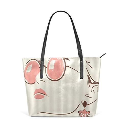 NR Multicolour Fashion Damen Handtaschen Schulterbeutel Umhängetaschen Damentaschen,Audrey Hepburn Retro- sexy Frauen-berühmter Filmstar-elegantes gemaltes abstraktes klassisches romantisches