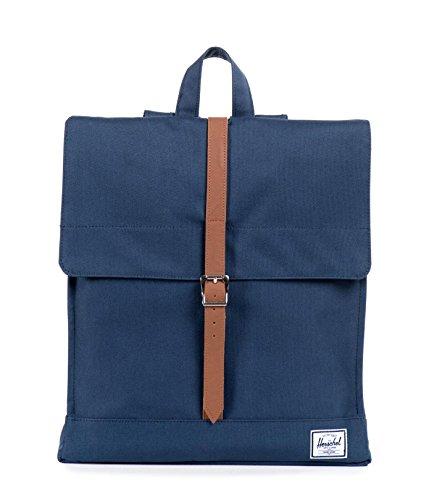 Herschel City Backpack, Navy/Tan, Mid-Volume 14.0L