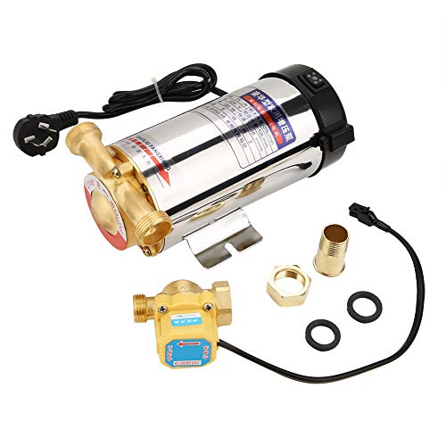 220 V 150 W bomba de agua de impulso automático, carcasa de acero inoxidable para grifo de tubería de agua, lavadora de ducha doméstica (CN enchufe)