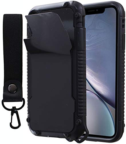 Drop Protection Anti Gravity Phone Case for iPhone XR Sticky Goat Phone Case Magic Nano Stick to Wall, Tile, Glass- Hand Strap Holder Case (IP XR)