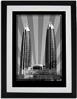 برج صور الدماك - أسود وأبيض بدون نص PF01-NM (A1)