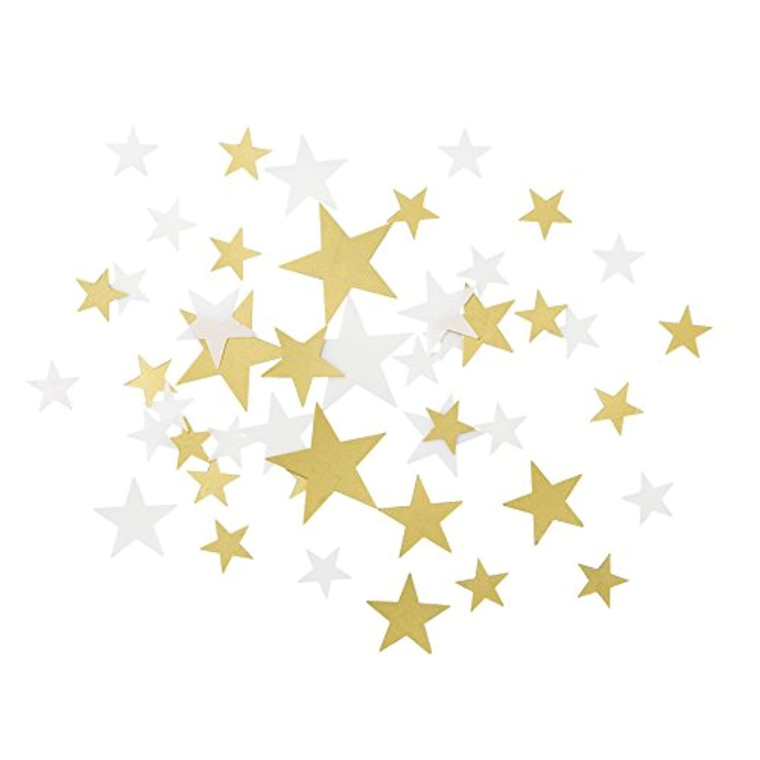 Talking Tables Gold Party Decorations | Star Confetti | White And Gold Table Scatter | Great For Wedding, Bridal Shower, Christmas And Birthday Decorations