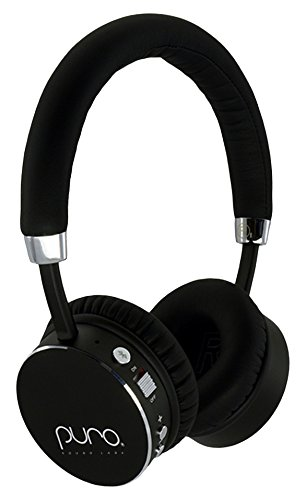 Puro Sound Labs BT2200 On-Ear Headphones Lightweight Portable Kids Earphones with Safe Wireless, Volume Limiting, Bluetooth and Noise Isolation for Smartphones/PC/Tablet - BT2200 Black
