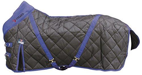 CATAGO Stable 300 g Tapis Mixte, Noir/Bleu, 135 cm