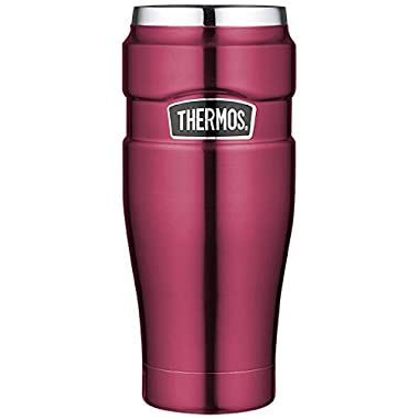 Thermos Stainless King 16 Ounce Travel Tumbler, Raspberry
