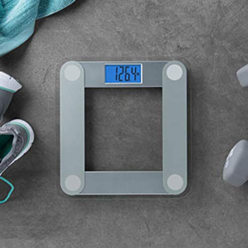 EatSmart Precision Digital Bathroom Scale with Extra Large Lighted Display, Free Body Tape Measure Included