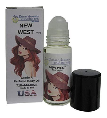 Jane Bernard Offers An Impression Perfume Body oil for Women_New West_Style_30ml (1 oz glass roll on) - Skin Safe - Plus Bonus Fragrance Shea Purse Hand Lotion