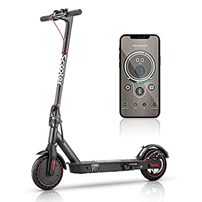 Electric Scooter Adult Fast 30km/h,i9 Portable E Scooter with APP Control, 25km Long Range, 350W Motor, 8.5'' Maintenance Free Tires,Max Load 264 lbs Commuter Electric Scooters for Adults & Teens