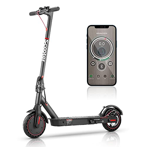 Electric Scooter Adults Fast 30km/h,iScooter i9 Portable E Scooter with APP...