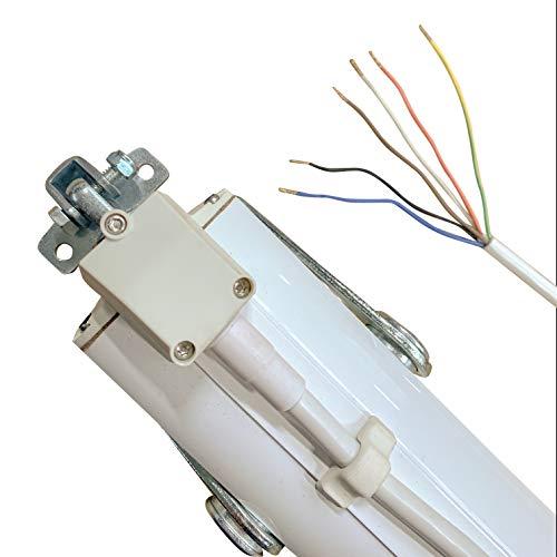 Elektromotor, Spindelantrieb in Weiß Lichtkuppel 230V / 300mm HUB 500N Motorantrieb D8 FCE mit Signalkontakt