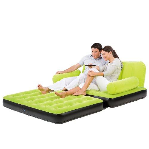 3-in-1 Funzione Multimax divano - due posti, come letto, divano oppure poltrona utilizzabile; Con pompa elettrica e borsa per il trasporto