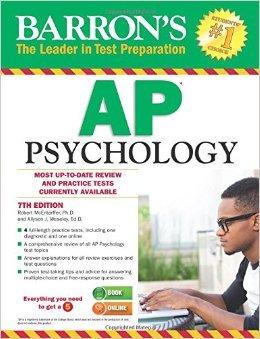 Barron s AP Psychology 7th Edition  Barron s AP Psychology Exam  by Allyson Weseley Ed.D Robert McEntarffer 7 edition  Textbook ONLY Paperback