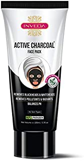 Inveda Active Charcoal Face Pack for Women