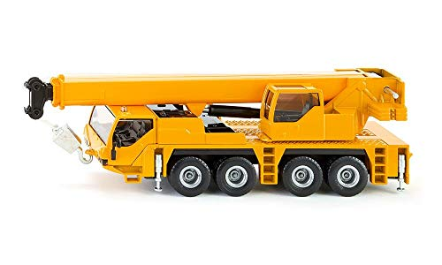 SIKU 2110, Kranwagen, 1:55, Metall/Kunststoff, Gelb, Teleskopierbarer Ausleger