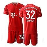 JEEG 20/21 Kinder KIMMICH 32# Fußball Trikot Jugend Trainings Anzug T-Shirt Set (Kinder Größe 4-13 Jahre) (24)