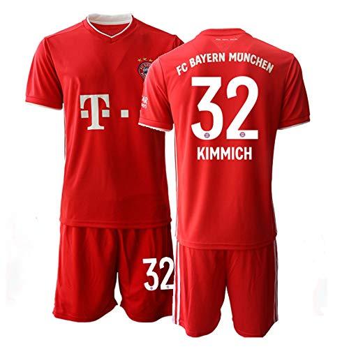 JEEG 20/21 Kinder KIMMICH 32# Fußball Trikot Jugend Trainings Anzug T-Shirt Set (Kinder Größe 4-13 Jahre) (22)
