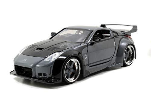 Jada Toys 253203006 Fast & Furious D.K.\'s 2003 Nissan 350Z, Auto, Tuning-Modell im Maßstab 1:24, mit Spoiler, zu öffnende Türen, Motorhaube und Kofferraum, Freilauf, schwarz