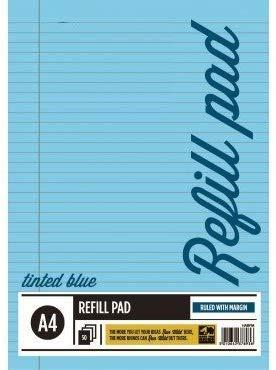 A33® - Bloc de recambio para papel tintado (tamaño A4), color azul, color azul Pack de 6 unidades