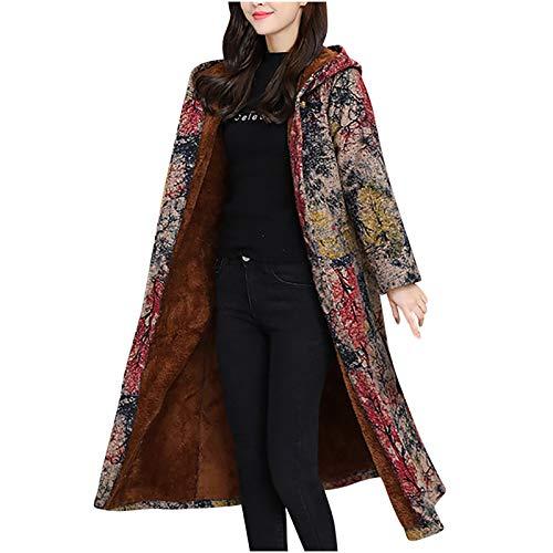 FIRSS Damen Winterjacke, Freizeit Outdoor Winterparka, Bequem Weich Windcoat, Casual Langarm Coat, Woman Sweatshirt Lange Mantel, Atmungsaktiv Komfortable Winter Jacke