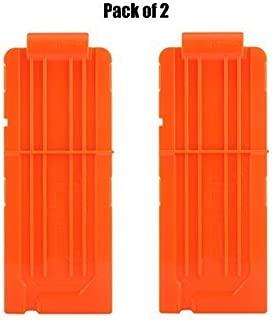 FUCAS Soft Bullet 2pcs Clips 12 Bullets Dart Gun Clips Magazine Clip For Nerf Toy Dart Gun (2 pcs)