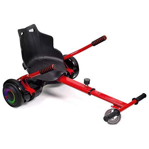blackpoolal Hoverboard Go Kart Verstellbarer Hoverkart-Sitz für elektrische Self Balancing Scooter, verwandelt Ihre Hoverbords in Go-Kart, gelten für Self Balance Scooter mit 6,5/8/10 Zoll (rot)