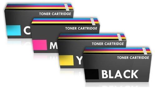 Prestige Cartridge 1250 - Pack de 4 cartuchos de tóner láser para Dell 1250c/1350cnw/1355/tricolor y color negro