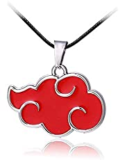 Naruto Akatsuki Red Cloud Symbol Pendant Necklace Itachi Sasuke