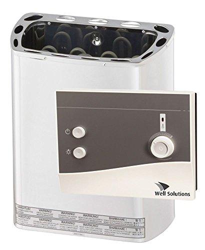 Well Solutions® Edelstahl Sauna Ofen 3,6 KW 230V mit K1 Steuerung und Steine Well Solutions®
