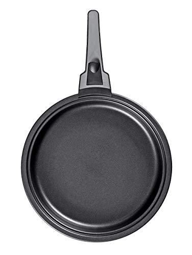 Bratmaxx 3tlg. BRATmaxx Aluminium-Pfannen-Set 'Click on' grau