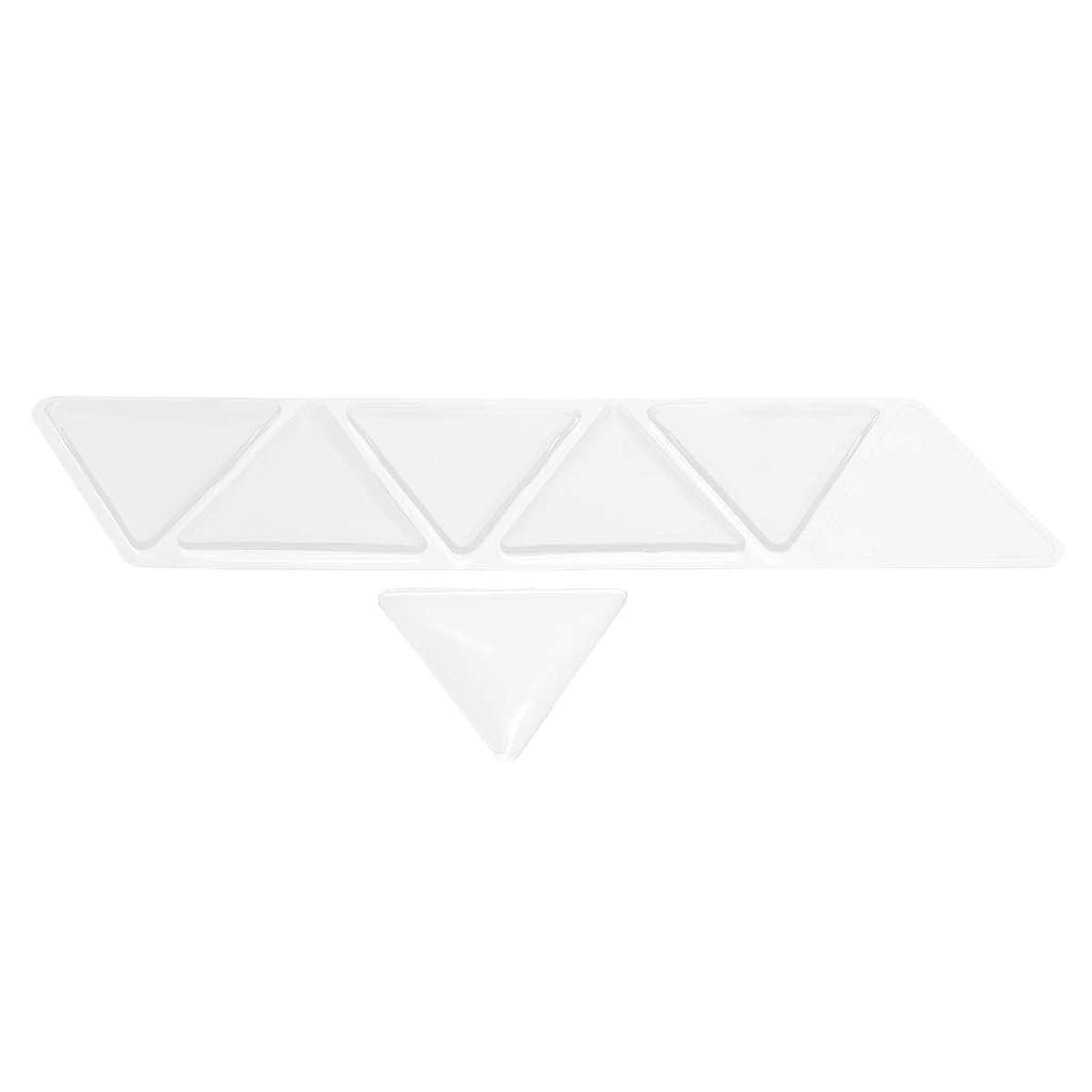 バッチ任命する悲鳴Hellery 額パッド シリコン 透明 額スキンケア 再利用可能な 目に見えない 三角パッド 6個セット