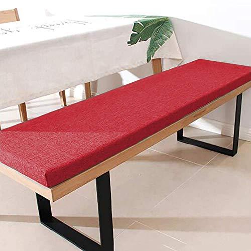 ZINN Premium - Cuscino per panca con lacci di fissaggio, 90 x 35 cm, spessore 3 cm, cuscino per sedia a dondolo, cuscino per panca da pranzo, per finestre a baia/giardino