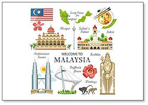 Kühlschrankmagnet aus der Malaysia-Kollektion traditioneller Objekte & Sehenswürdigkeiten
