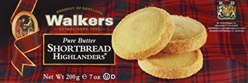 Walkers Walkers Shortbread Highlanders – 200 g – Traditionell, schottisches Buttergebäck in Zucker gerollt