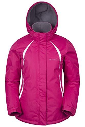 Mountain Warehouse Moon ski-jack voor dames, sneeuwbestendig, microvezelisolatie, winddichte winterjas, warm, verstelbare capuchon, skikleding voor snowboard-vakantie