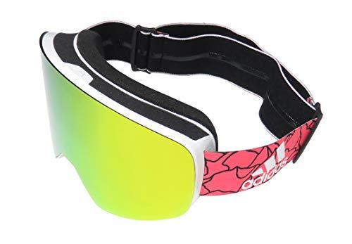 Adidas Brille Skibrille Googles ad80 BACKLAND white matt 6055 red mirror