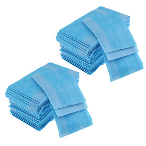 LoveinDIY 120 pcs Nonwoven Disposable Bed Sheet Paper for Incontinence, Massage Table Sheet, Facial Beauty, Wax Chair Covers (16x16inch)