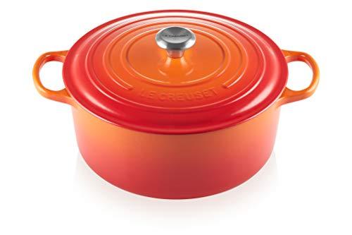 Le Creuset Enameled Cast Iron Signature Round Dutch Oven, 13.25 qt., Flame