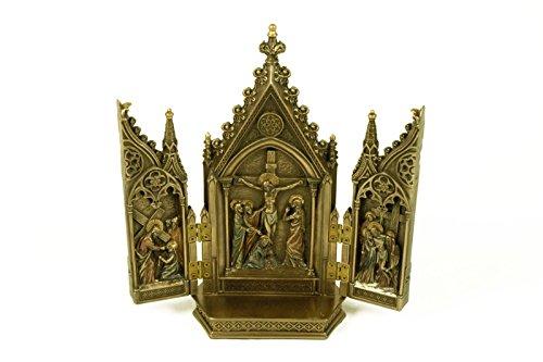 """Figura Decorativa Religiosa """" Retablo Del Calvario"""". 19 x 6 x 20,5 cm."""